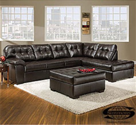 Manhattan Sectional Sofa Big Lots by View Simmons 174 Faux Leather Manhattan 2 Sectional