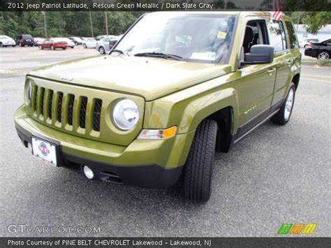 dark green jeep patriot rescue green metallic 2012 jeep patriot latitude dark
