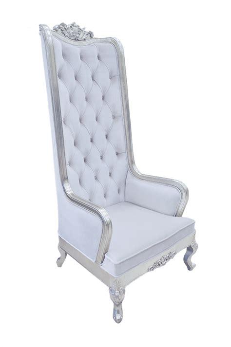 high back chair king throne snow white