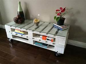 White wooden coffee table with wheels 101 pallets for White coffee table with wheels