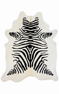 tapis en vrai peau de vache imprime zebre With tapis en peau de zebre