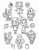 Crossing Coloring Animal Horizons Coloriage Characters Printable Sheet Imprimer Dessin Chrissie Nook Tom Zullo sketch template
