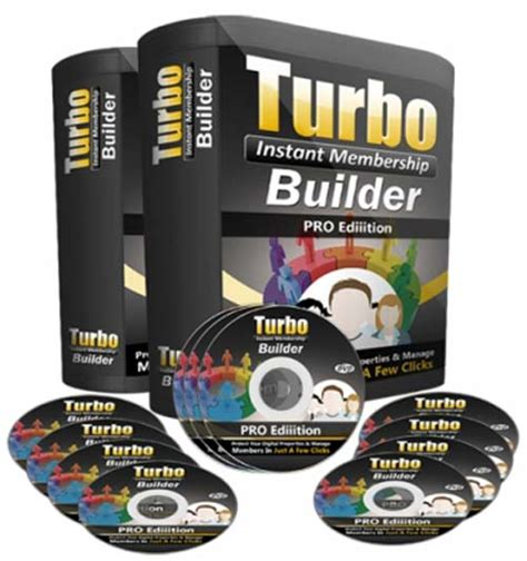 Turbo Instant Niche Templates by Turbo Instant Membership Builder Pro