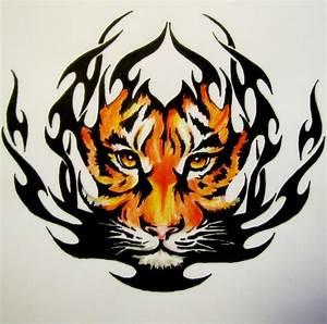 Tribal Tiger by BekkaTora on DeviantArt