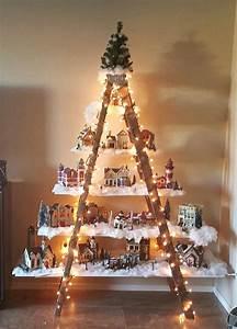 Beautiful Christmas Ladder Village - Crafty Morning