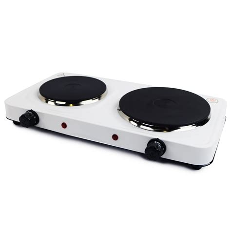 kw electric portable kitchen double hot plate oypla
