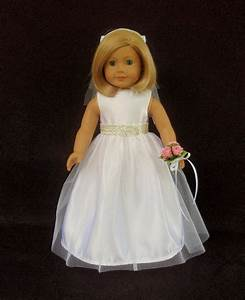 american girl doll clothes satin and tulle wedding gown With american girl doll wedding dress