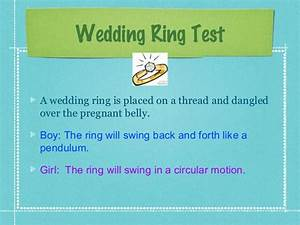 baby alvey guesstimate With wedding ring pregnancy gender test