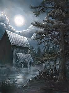 Full Moon Painting