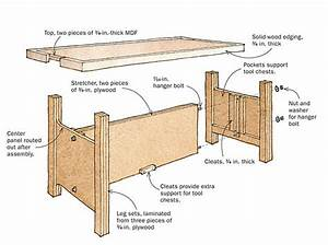 Knock-Down Workbench Holds Two Tool Chests - FineWoodworking