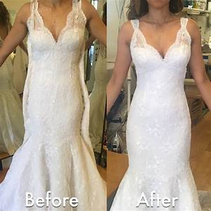 before after wedding dress alteration initially it was a With dress for after wedding