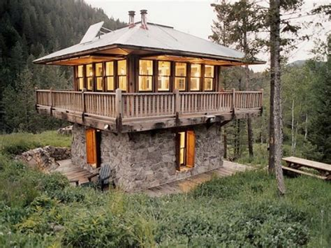 cool cabin plans inside lookout towers tower cabin plans cool