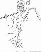 Punjabi Bhangra Dance Clipart Dots Connect Pages Worksheet Dot Cliparts Coloring Clip Sikhism Sketch Printable Template Library Email sketch template