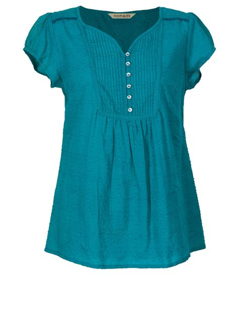 teal blouses cotton sleeve blouse tribal earth