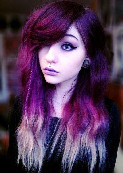 Multi Tone Purple And Blonde Scene Girls Pinterest