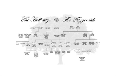 Downloadable Family Tree Template by Large Family Tree Template 11 Free Word Excel Format