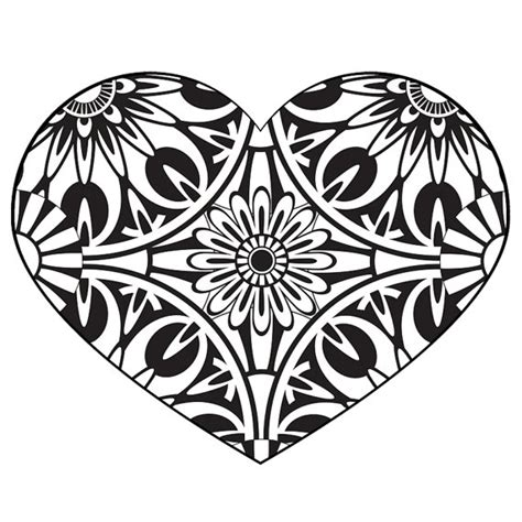 Adult Geometric Coloring Page Heart
