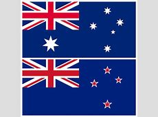 Australian vs New Zealand flag Difference between the