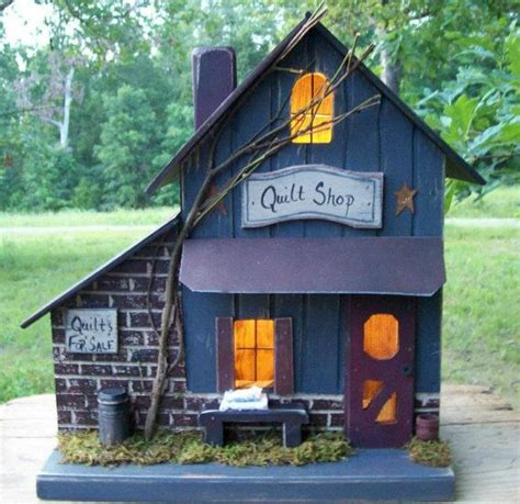Primitive Birdhouse Quilt Shop Farmhouse Folk