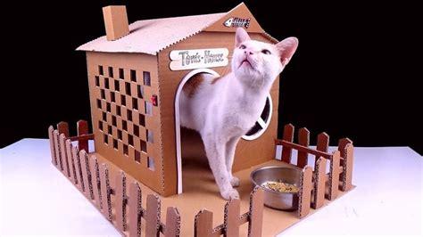 cardboard cat house ideas  pinterest cat