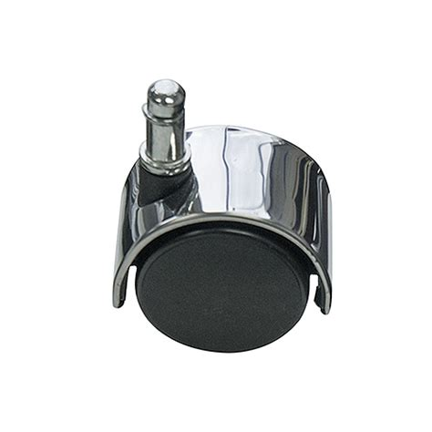 office chair casters with polished metal accent chrome
