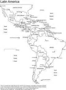 Latin America Printable  Blank Map  South America  Brazil
