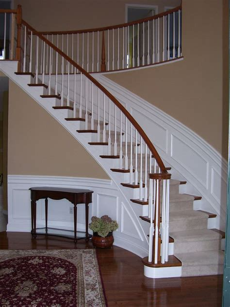 wainscoting  curved stairs wainscoting styles