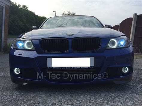 bmw halo lights bmw e90 drl halo ring led fog lights m tec dynamics