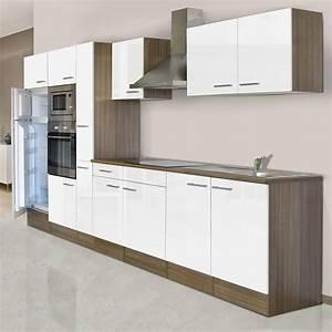 Küchenzeile 360 Cm : respekta k chenzeile kb360eywmigke breite 360 cm wei seidenglanz bauhaus ~ Indierocktalk.com Haus und Dekorationen