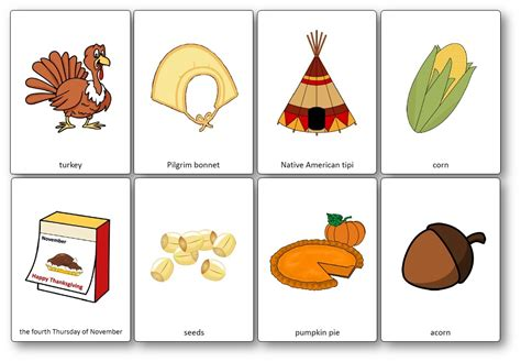 Thansgiving Flashcards  Free Printable Flashcards To Download