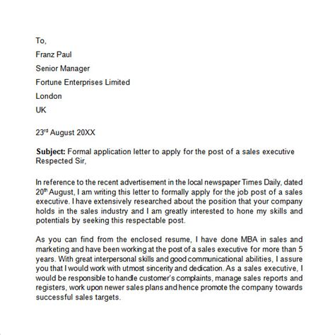 application letters  word