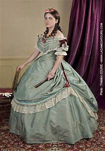 lovely reproduction civil war era fashion ballgown war With robe second empire