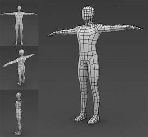 low poly modeling - human good topology | 3DCG Topology ...