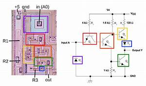 Inside The 74181 Alu Chip  Die Photos And Reverse Engineering
