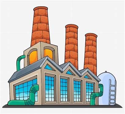 Factory Cartoon Clipart Building Factories Transparent Seekpng