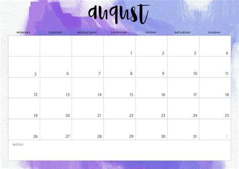 august  calendar wallpapers wallpaper cave