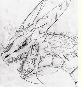 Dragon draft drawing by CHETz on DeviantArt