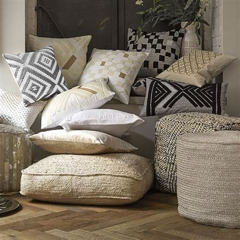 Braided Jute Floor Cushion   west elm