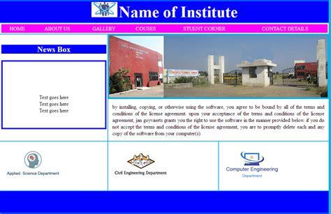 Html Website Templates Free College Website Templates For Asp Net Popteenus