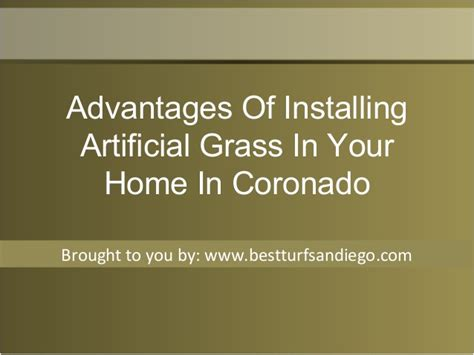 Advantages Of Installing Artificial Grass In Your Home In
