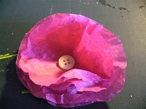Fleur En Papier De Soie : faire une fleur en papier de soie scrap eco ~ Nature-et-papiers.com Idées de Décoration