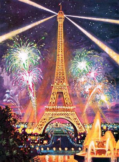 eiffel tower fire works  year celebration xcitefunnet