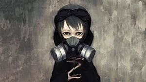 21, Anime, Girl, With, Gas, Mask, Wallpapers