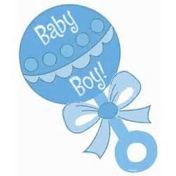 Boy Baby Shower Rattle Clip Art