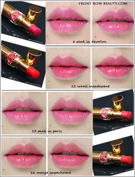 Ysl Rouge Volupte Shine Lipsticks Review And Swatches