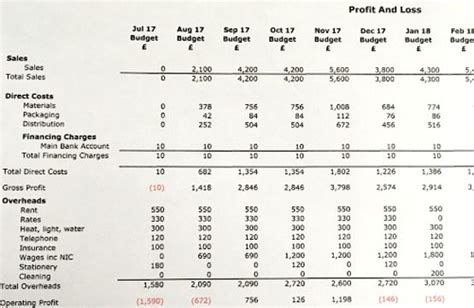 How To Write A Profit And Loss Forecast