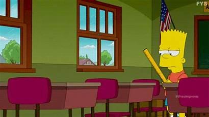 Simpsons Simpson Bart Lisa Classroom Signs Gifs