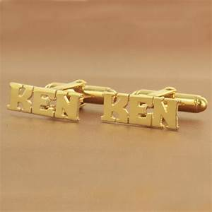 block letter monogram cuff links from monogram online With gold letter cufflinks