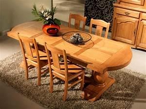 Table Chene Massif Rustique : table rustique bois massif ~ Teatrodelosmanantiales.com Idées de Décoration