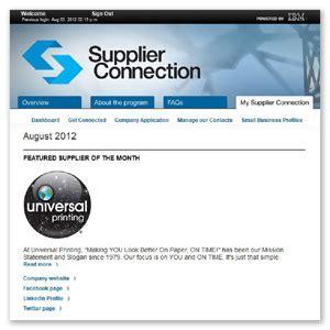 universal printing supplierconnection supplier